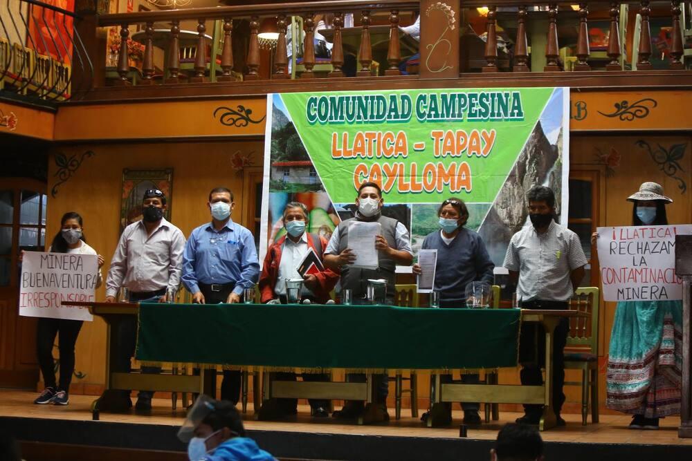 Pobladores de Llatica denuncian a mina Buenaventura por contaminación