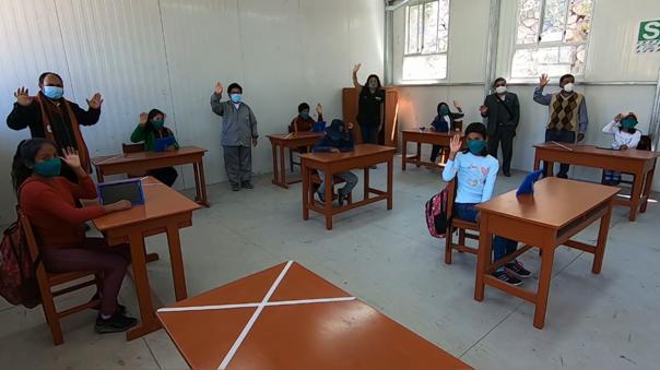 Las clases semipresenciales, se vienen dando en 10 instituciones educativas de la provincia de La Unión y en 6 de Castilla.