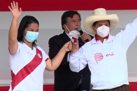 Pedro Castillo y Keiko Fujimori: resultados muy distintos en encuestas de segunda vuelta