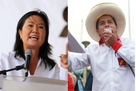 Encuestas: Keiko Fujimori reduce distancias con Pedro Castillo antes del debate