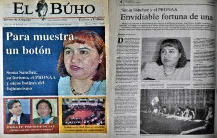 #Hace20Años Sonia Sánchez y el PRONAA: envidiable fortuna de pieza clave del fujimorismo en Arequipa