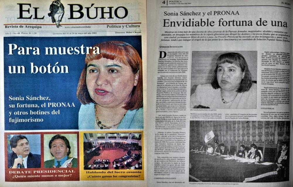 Sonia Sánchez, pieza clave del fujimorismo en Arequipa.