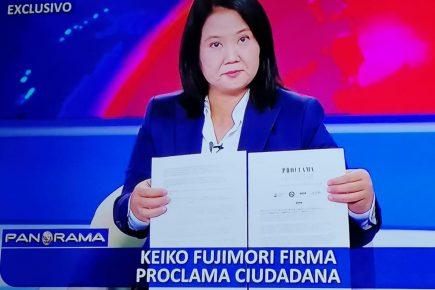 Fujimori promete independencia de poderes, lucha anticorrupción y libertad de expresión