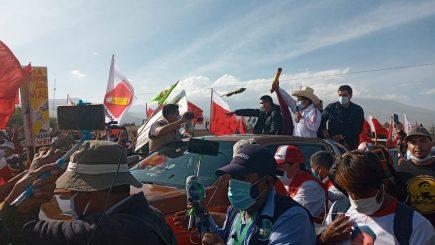 Pedro Castillo en Arequipa para participar en debate presidencial