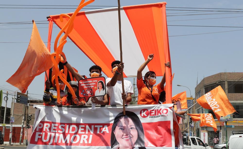 Caravana en apoyo a Keiko Fujimori en Arequipa.