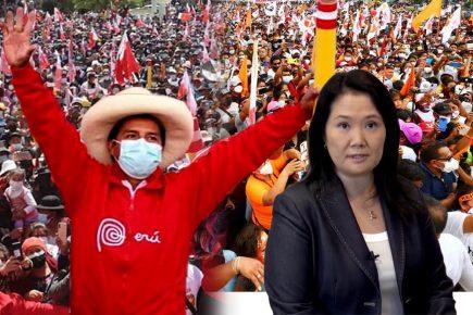 Pedro Castillo sube mientras Keiko Fujimori baja en encuesta de Ipsos