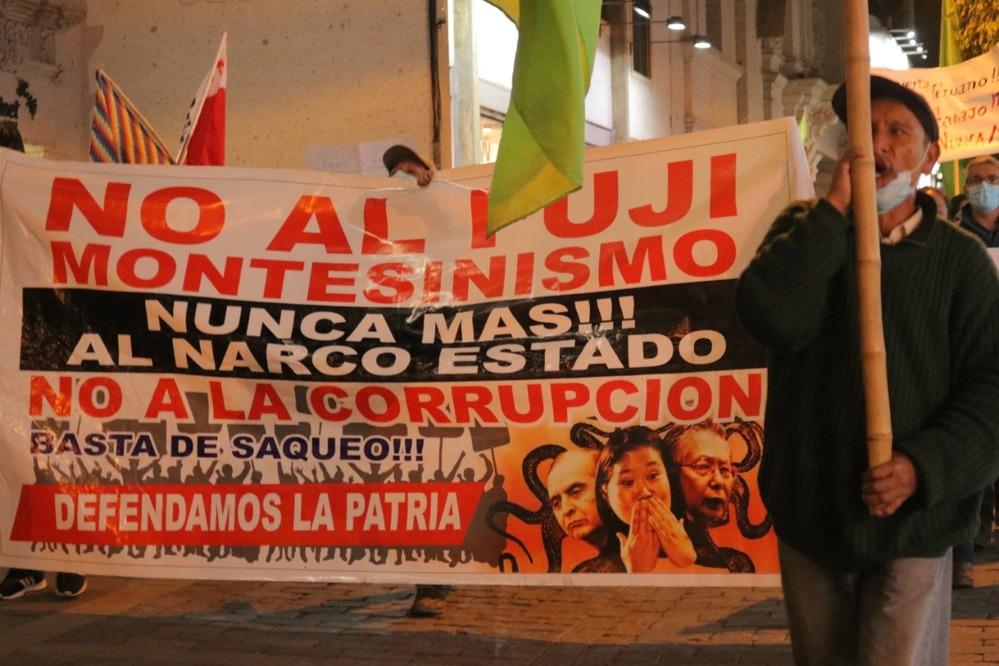 Marcha contra Keiko Fujimori.