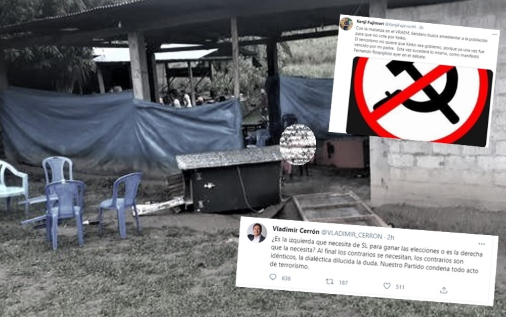Acusaciones entre simpatizantes de Keiko Fujimori y Pedro Castillo inundan Twitter, tras atentado en el Vraem.