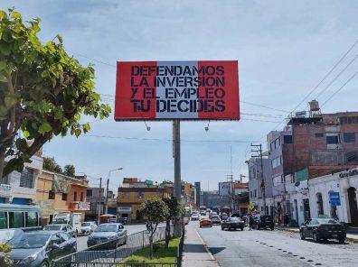 Arequipa: campaña anticomunista con fondos anónimos aumenta (VIDEO)