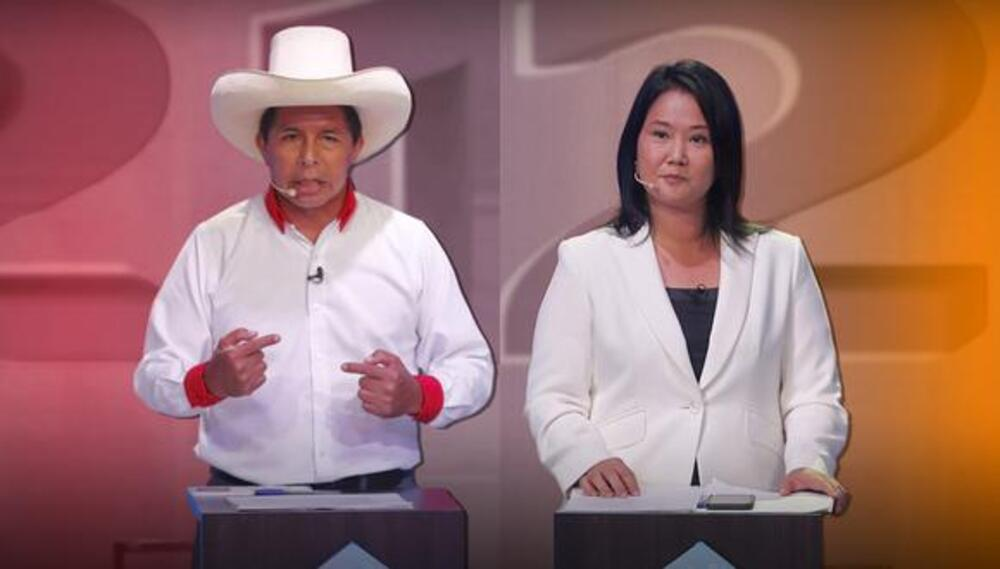 Oposición al debate entre Keiko Fujimori y Pedro Castillo en Arequipa.