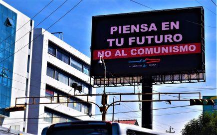 Campaña anticomunismo en Arequipa invierte más de S/ 35 mil en paneles, de forma anónima