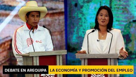 Debate en Arequipa: Keiko Fujimori y Pedro Castillo sobre economía y promoción del empleo