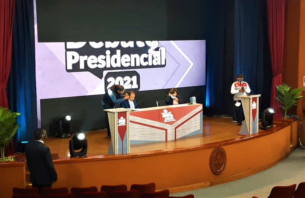 Debate presidencial entre Keiko Fujimori y Pedro Castillo en Arequipa.