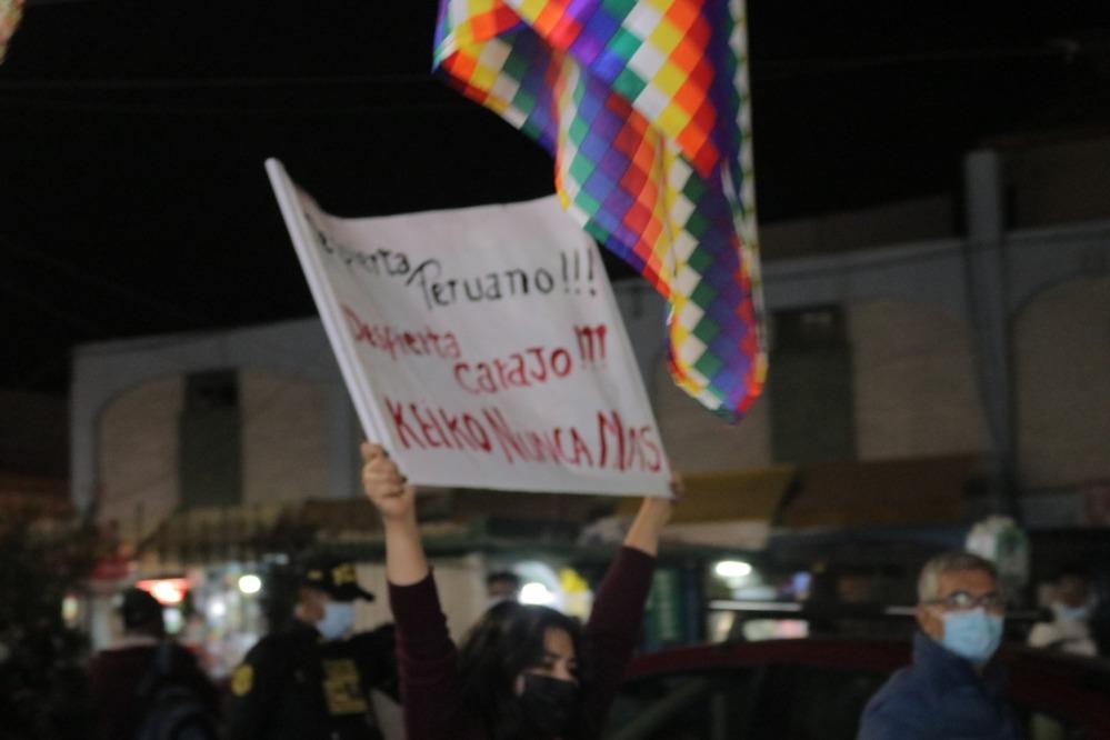 Marcha Fujimori Nunca Más, en Arequipa.