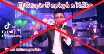 Es falsa la presunta canción del Grupo 5 en respaldo a Keiko Fujimori