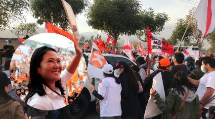 Keiko Fujimori llegó a Arequipa y se producen  enfrentamientos