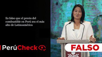 Es falso que el precio del combustible del Perú sea el más alto de la región como afirmó Fujimori