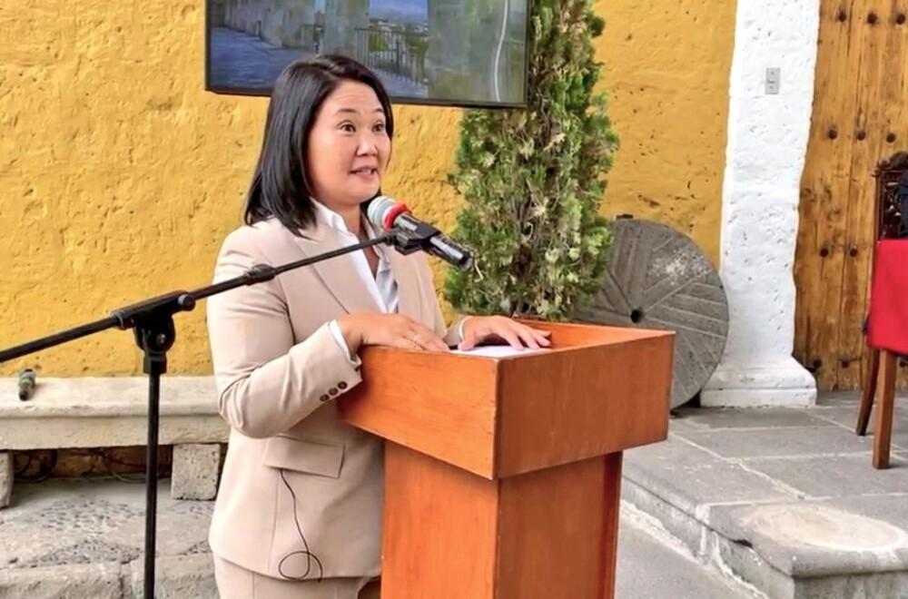 Keiko Fujimori (Fuerza Popular) desde Arequipa: Pido perdón a todos los que haya defraudado