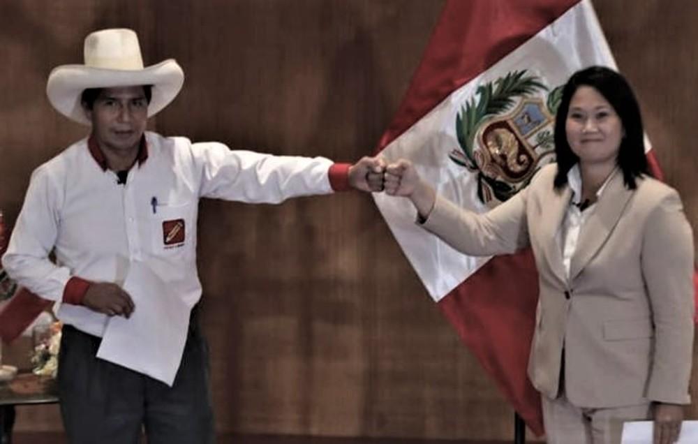 Debate en Arequipa, entre Keiko Fujimori y Pedro Castillo.