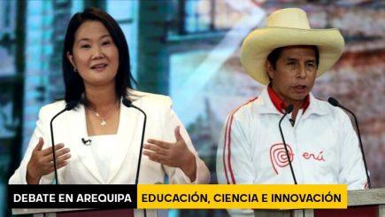 Debate en Arequipa: Keiko Fujimori y Pedro Castillo sobre Educación, ciencia e innovación
