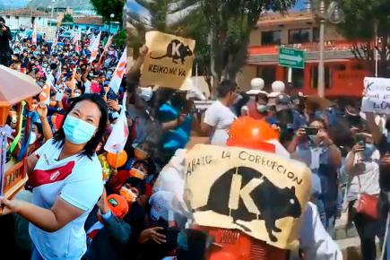 Keiko Fujimori Huaraz rechazo