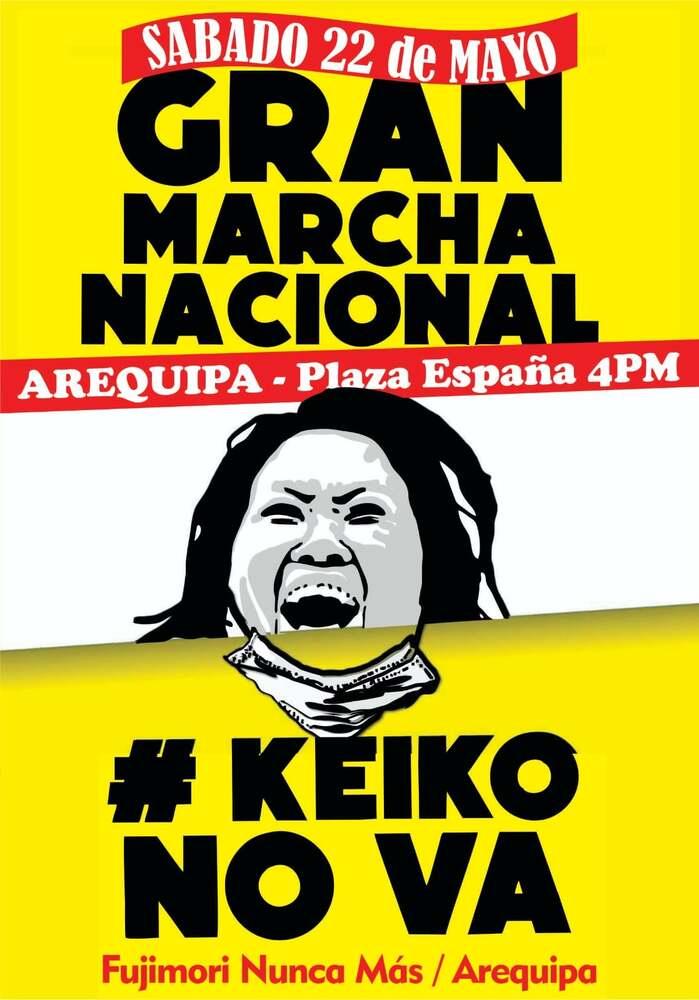 keiko no va, marcha en Arequipa.
