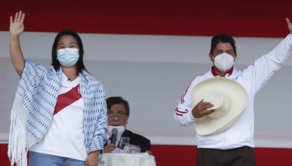 Pedro Castillo y Keiko Fujimori en posible debate en Arequipa.
