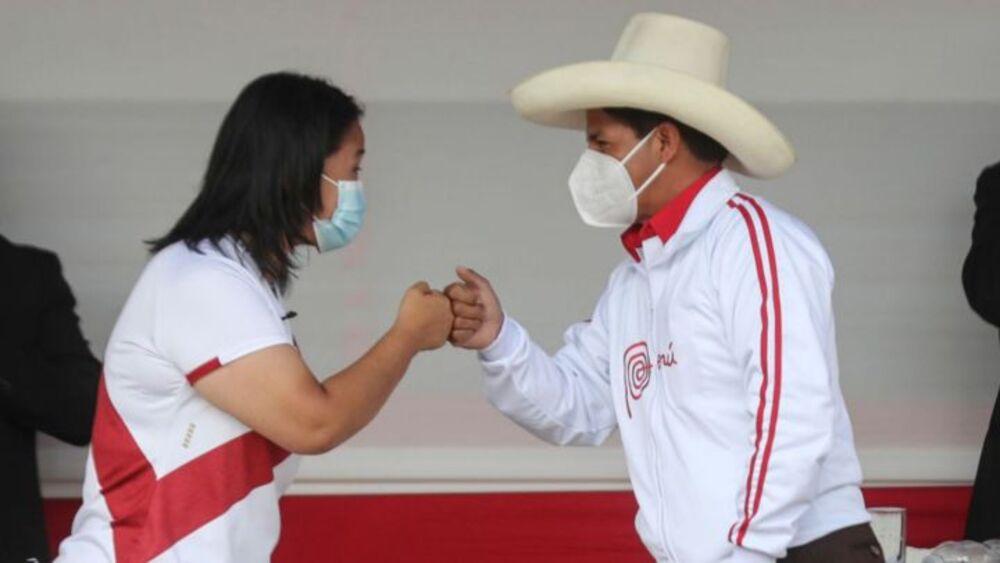 Invitan a debate en Arequipa, a Pedro Castillo y Keiko Fujimori.