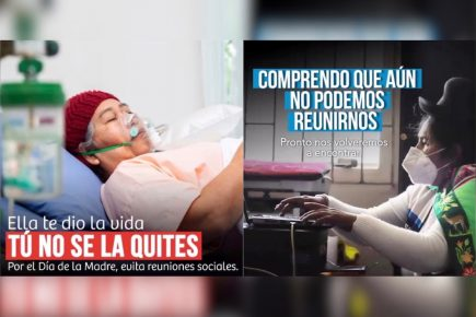 """""""Ella te dio la vida, tú no se la quites"""": campaña para prevenir contagios en Día de la Madre"""