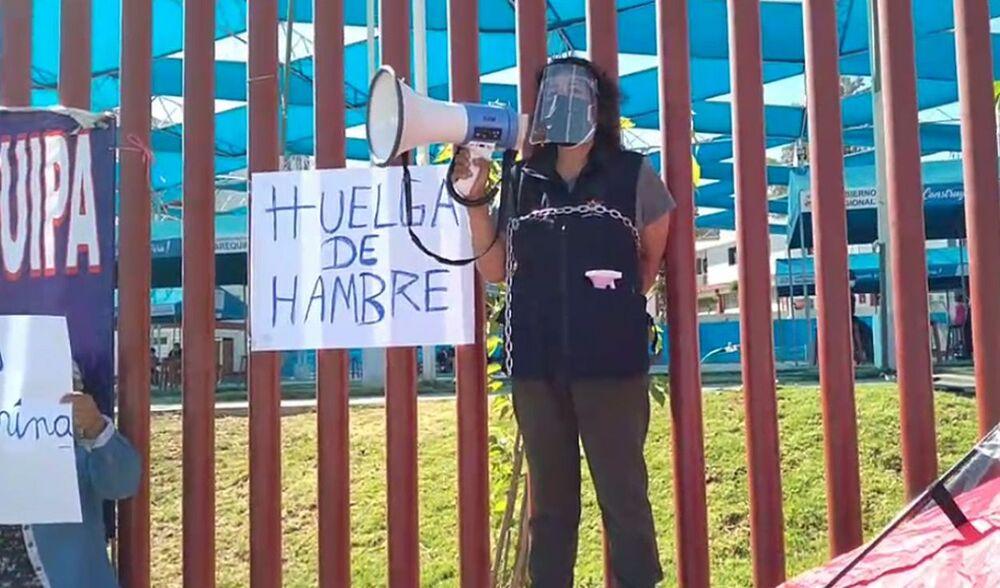 Los trabajadores del GRA realizaron una huelga de hambre en la que protestaron por los ineficientes implementos de bioseguridad que han recibido.