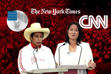 CNN, New York Times y Human Rights Watch preocupados por elecciones en Perú