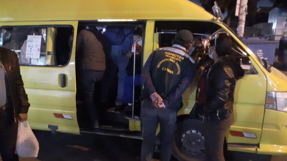 arequipa cayma agresion inspectores transporte público