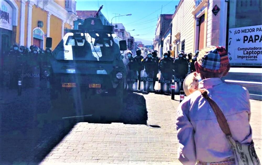 Enfrentamientos en Arequipa, por resultados de segunda vuelta, entre Keiko Fujimori y Pedro Castillo.
