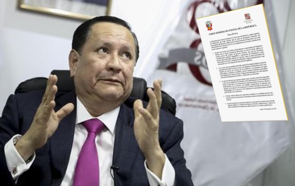 Corte Suprema deplora expresiones de Luis Arce sobre presunta concertación institucional.