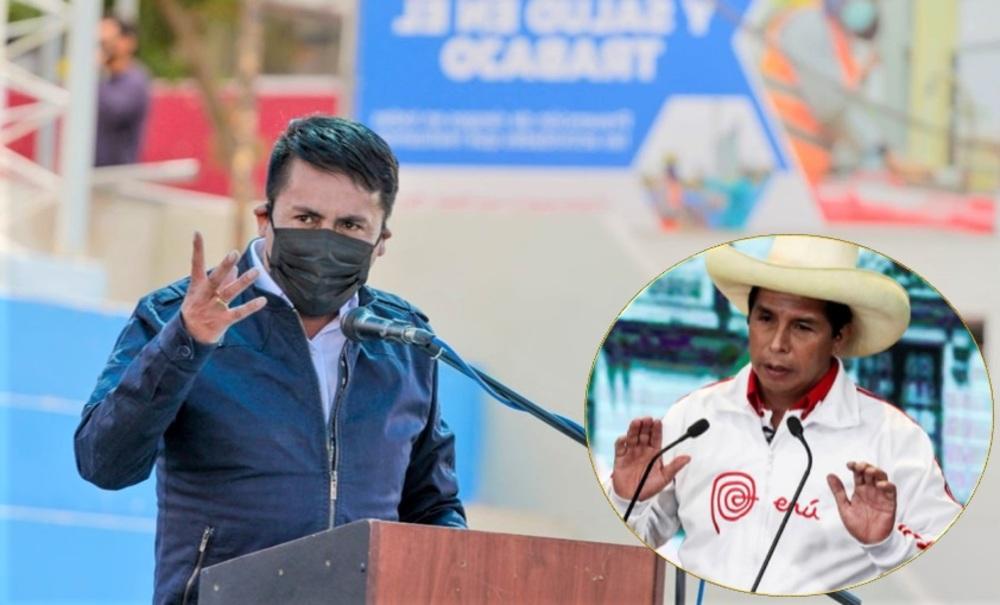Gobernador de Arequipa, Elmer Cáceres Llica: Repudio al candidato Pedro Castillo, irresponsable.