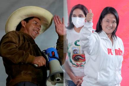 Keiko Fujimori Pedro castillo onpe voto resultados