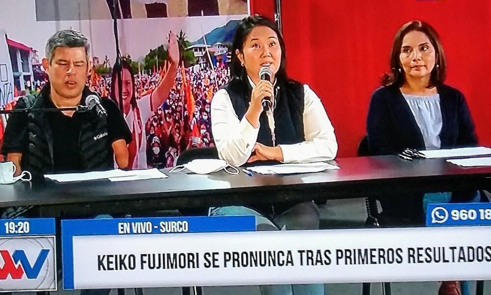 Keiko Fujimori denuncia fraude en mesa, tras resultados a favor de Pedro Castillo