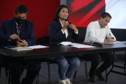Fuerza Popular anuncia más acciones legales por resultados de la ONPE