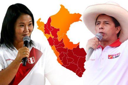 ONPE al 100% de actas contabilizadas: Pedro Castillo gana segunda vuelta por 44 mil votos