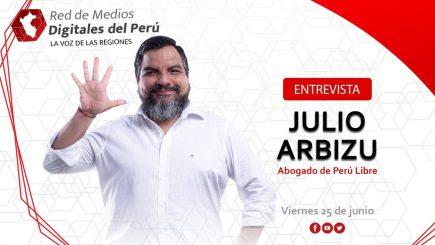 Red de Medios: entrevista a Julio Arbizu, del equipo legal de Perú Libre