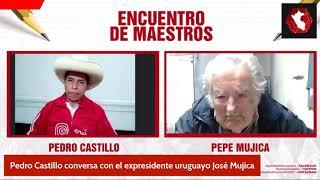 Pedro Castillo dialoga con expresidente de Uruguay José Mujica