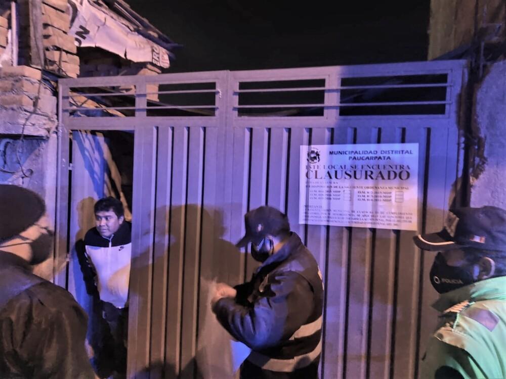 Arequipa: intervienen local con 16 personas, a pesar de restricciones covid-19.