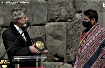 Francisco Sagasti en Inti Raymi: Seamos un país que no excluya ni discrimine