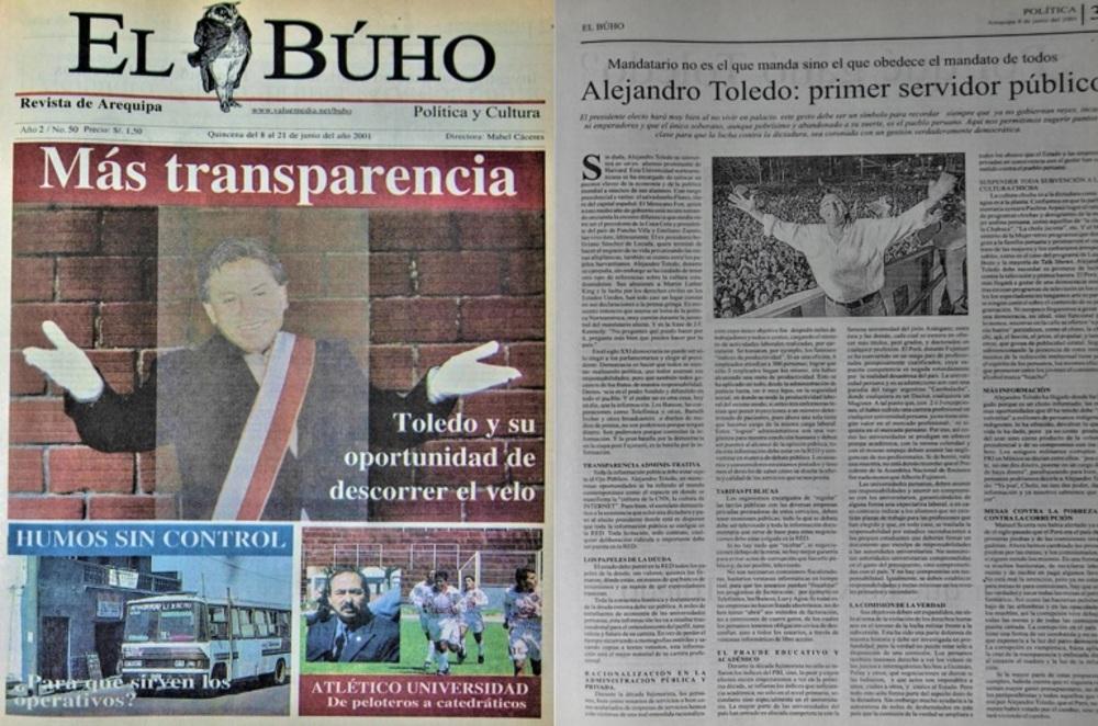 #Hace20Años Más transparencia: Toledo y su oportunidad de descorrer el velo