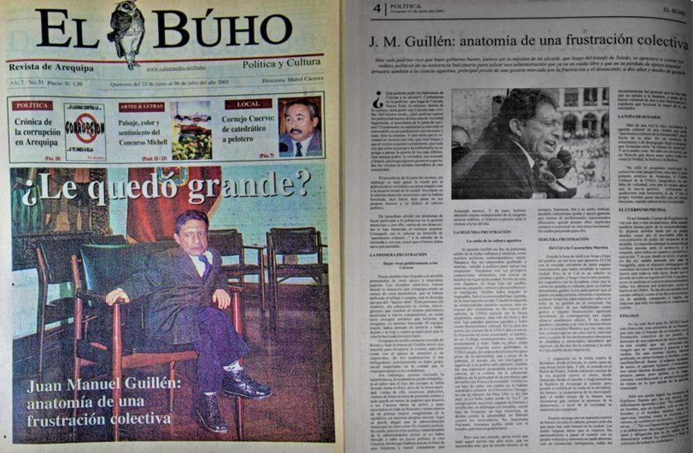 #Hace20Años Juan Manuel Guillén: anatomía de una frustración colectiva. Arequipa.