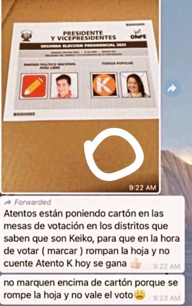 voto redes sociales cartón