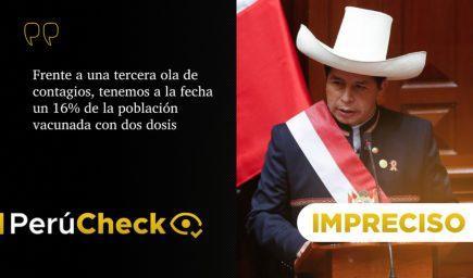 Mensaje: es impreciso que 16% de peruanos haya recibido dos dosis de vacuna COVID-19
