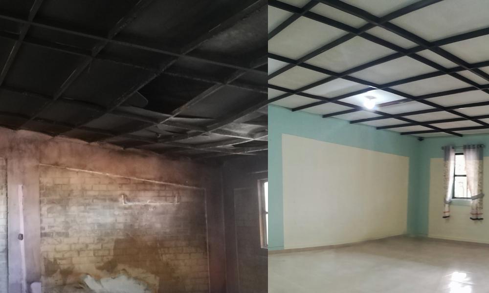 Restauran los ambientes incendiados del albergue San José Benito Cottolengo