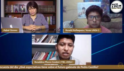 Pico a Pico: candidatos estudiantes para las elecciones en la UNSA