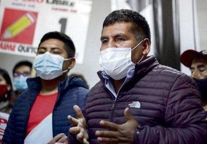 """Jaime Quito: """"Es importante que Perú Libre presida Mesa Directiva por la estabilidad del país"""""""